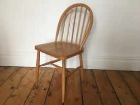 Ercol Utility Kitchen Dining Chair single Natural Colour