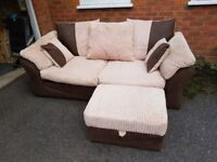 ( I DELIVER ) lovely 2-3seater fabric sofa