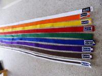 9 Blitz Karate Belts - As New