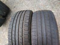 Mercedes Benz alloys and tyres 2x falken 2x infinity