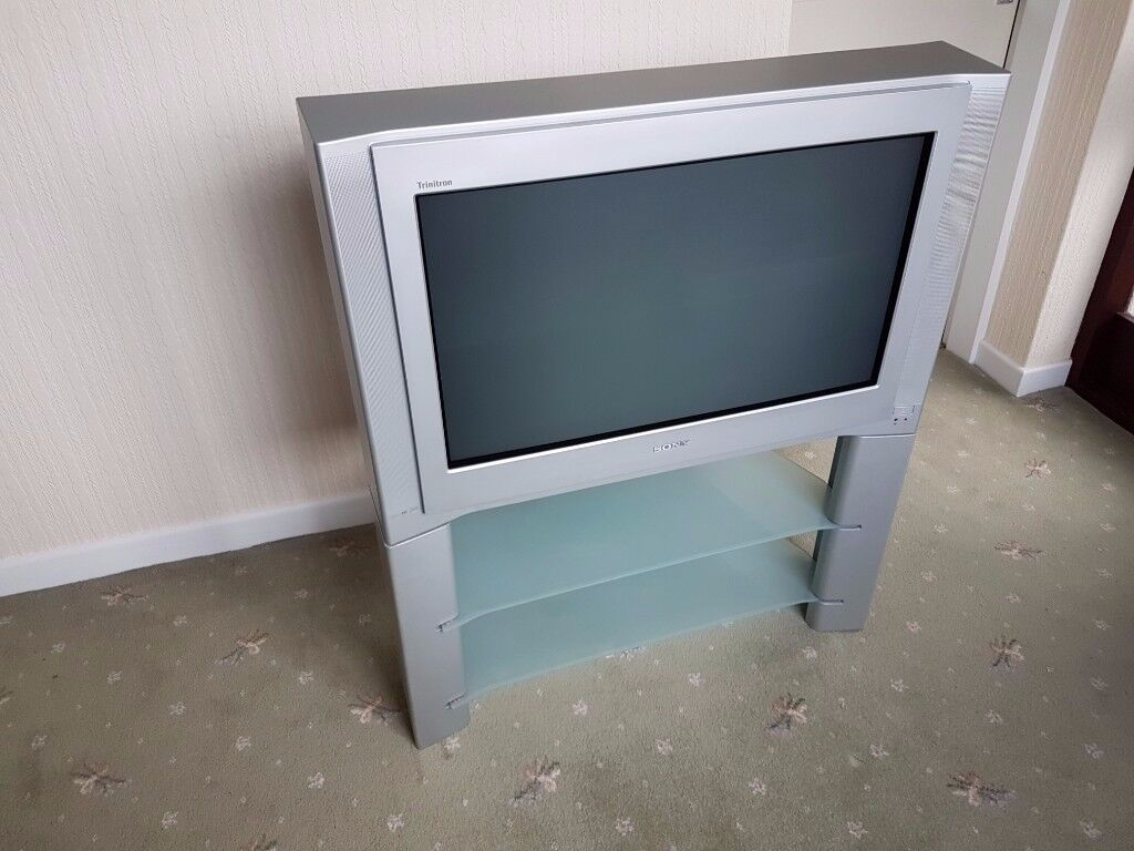 Sony Trinitron Crt Tv Kv 32fx68u 32 Tv With Stand Remote And  # Meuble Tv Separation