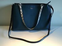 Fiorelli Navy/Blue Large Handbag with grey crocodile handles