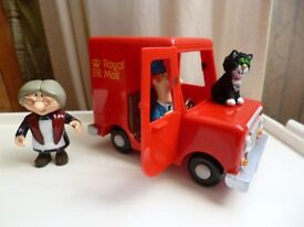 Postman Pat delivery van with Pat and Jess and Soft toy Pat - Shipley