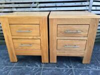 Solid Oak bedside tables