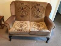 Vintage Queen Anne 2 seater sofa