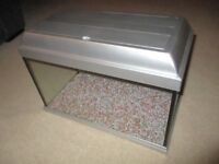 Fish tank, 35 litre capacity with light. 50cm x 25cm x 28cm, Made by Elite.