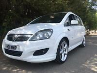 STUNNING IN WHITE WHICH IS RARE 2011 VAUXHALL ZAFIRA SRI X PACK CDTI 7 SEATER 1.7 TURBO DIESEL