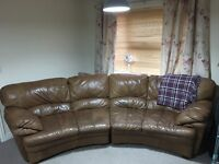 Leather sofa, good condition, mark on corner easily covered with a throw