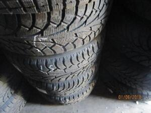 225/50R18 HANKOOK SET OF 4 SNOW TIRES ON MUSTANG ALLOY RIMS