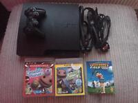 160GB slimline PS3 and 3 games