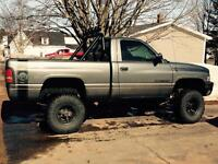 Lifted 1998 dodge ram short box 4x4!!! Trades accepted