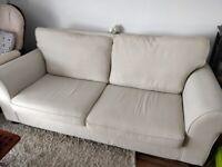 Cream Three Seater Sofa