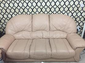 (*Reduced*) 3+1+1 Seater Leather Sofa