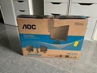 """Brand new AOC E2270Sw 21.5"""" LED monitor screen display"""