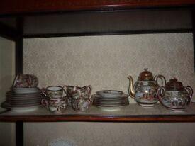 Gorgeous Vintage Oriental/Chinese Tea Service (33 Piece)