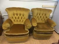 1970s vintage suite 2 chairs & couch
