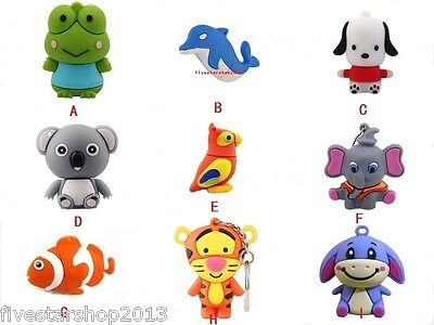 Dog/Fish/Tiger/Koala/Frog model USB 2.0 Memory Stick Flash pen Drive 4G-32G P590
