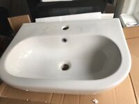 Brand new wash hand basin and pedestal