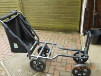 Preston 4 wheeled shuttle fishing trolley