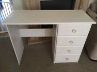 White Solid Pine 4 Drawer Dressing Table
