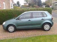 VW Polo 1.2 petrol E64 , 06 reg 5 door Manual, Metallic Fairway Green, VGC, FSH, 12 month MOT,