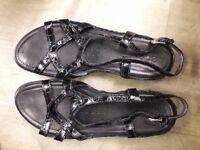 Black Sandals -Size 8 - Used but in Very Good Condition