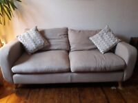 Large 3-seat sofa, cream colour, from Oak Furniture Land - Excellent condition, £200 - PICK UP ONLY