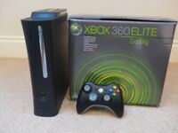 XBOX 360 ELITE Go Big in original box with all cabling and accessories.