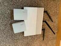 TP link power line adapters and router