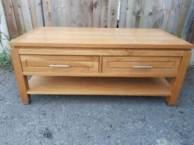 Solid hardwood or Oak coffee table. FREE delivery in Derby
