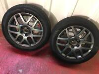 Volkswagen Golf alloys with winter tyres