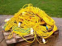 Yellow 110V Cable in Various Length Also 240V Blue 32 Amp Electric extension Cable Various Lengths