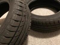2x Used summer tyres Barum Bravuris 2 205/60 r16