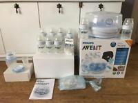 Philips Avent Bottles and Steriliser