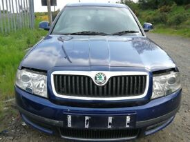 Skoda Superb 2006 Blue - For parts only!