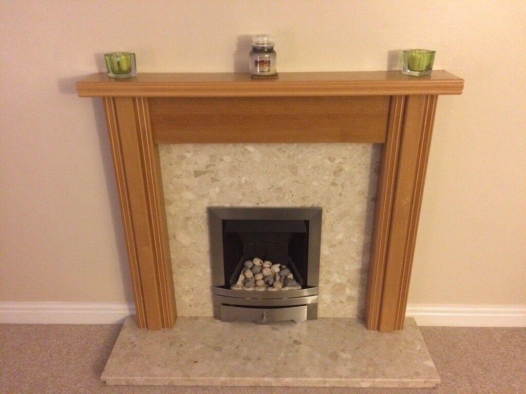 Oak style fire place surround