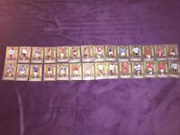 28 Rare golden moments match attax cards