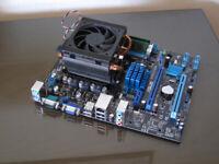 ASUS M5A78L-M LX3 - AMD FX 4300 CPU - 8GB DDR3 Ram - Copper Pipe Cooler