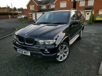 2006 bmw x5 3.0d sport 4x4 automatic full black leather interior service history