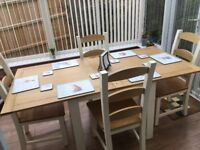 Cotswold Company Wooden 4-6 place Dining table and four chairs