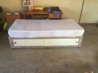 Single Divan bed with storage & silent night single mattress