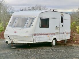 Elddis 470/2 berth touring caravan 1999 with end shower room in great condition
