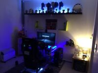 Full gaming set up, racing set up, pc, and oculus rift