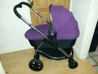 Icandy strawberry seat + carrycot + both raincovers