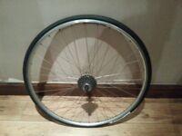 Road Bike wheel campagnolo with 9 speed hub cassette no shimano trek specialized scott mavic fulcrum