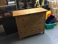 IKEA pine chest of drawers, delivery available