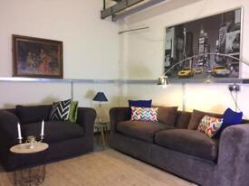 Habitat Louis sofas in dark chocolate RRP £3600