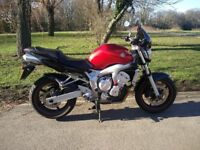 Yamaha Fazer fZ6N 600cc 2005 Red, garaged in great condition
