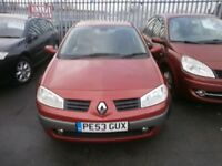 LOW MILEAGE RENAULT MEGANE 1.9 DCI PX TO CLEAR £495