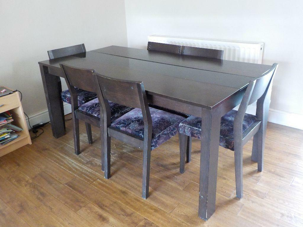 Solid wooden dining table and 6 chairs for immediate sale for Good dining table sets